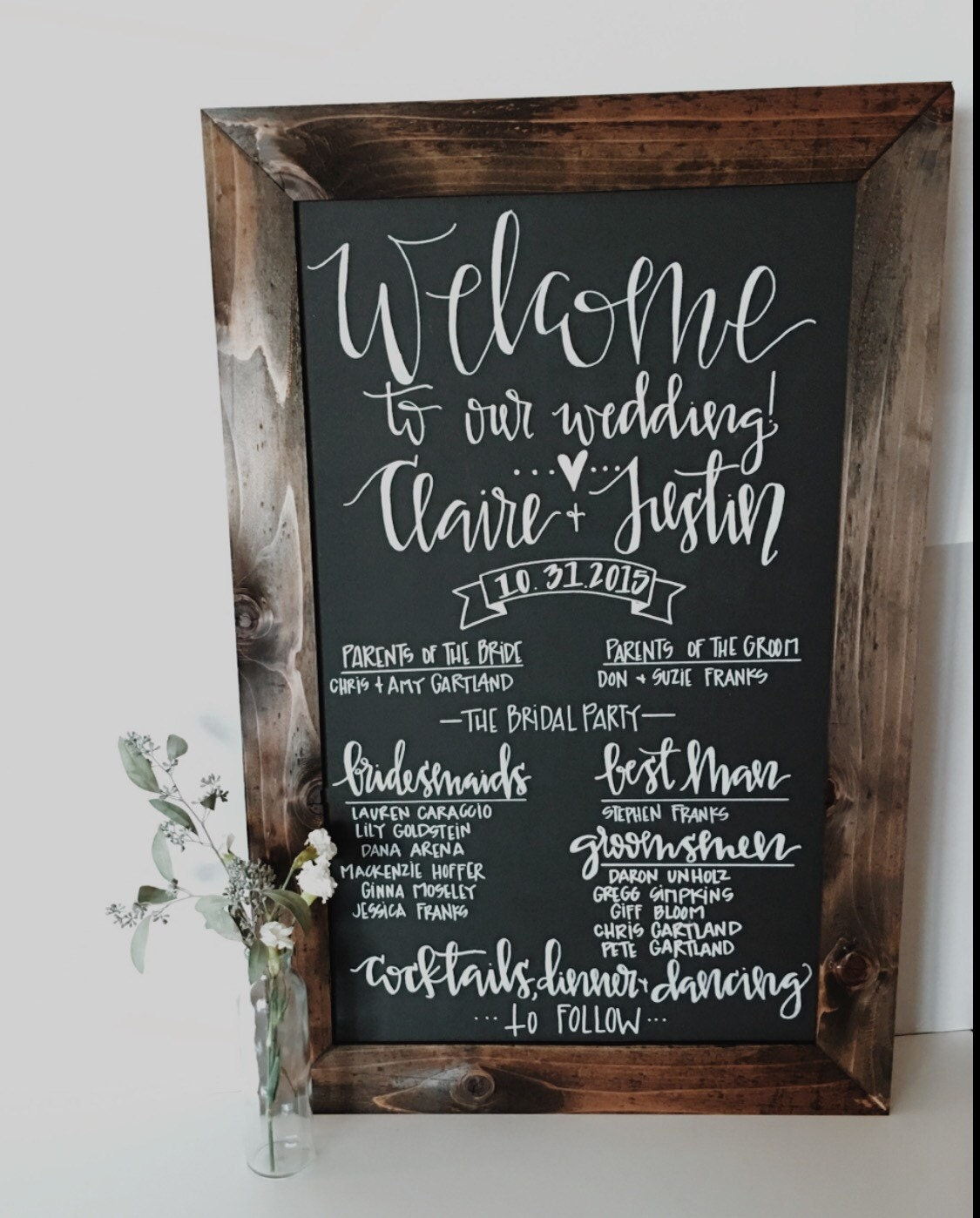 Chalkboard Wedding Program SignRustic Wedding Program