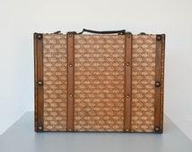 Vinyl and Wood Vintage Storage Carrying Case