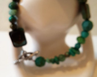 Bridge over troubled waters green turquoise bracelet
