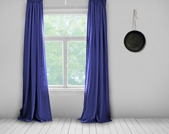 Delightful Made To Order Curtains  Cobalt Blue  Made To Measure Curtains  Cornflour  Blue