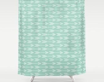 Arrow Shower Curtain Etsy
