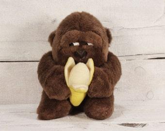 Vintage Monkey Plush Toy / Vintage Stuffed Animal Toy / Toys / Kids / Boyd / Nursery Decor / Christmas Gift / The Vintage Europe