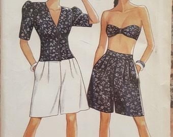 New Look 6120 Misses Blouse, Shorts and Badesu Size 34-44