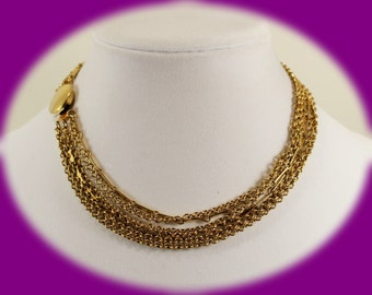 Vintage Necklace Gold Chain Necklace Vintage Gold Tone Chain Necklace Chunky Necklace Vintage Jewelry Christmas Gift