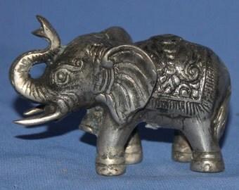 Vintage Hand Made Metal Elephant Figurine