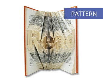 Folded Book Art Pattern - Read - 161 Folds - Including manual - Bookfolding Pattern - Folded Book Pattern - Book Folding pattern