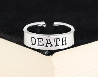 Death Ring - Death Metal - Metalhead - Aluminum Cuff Ring