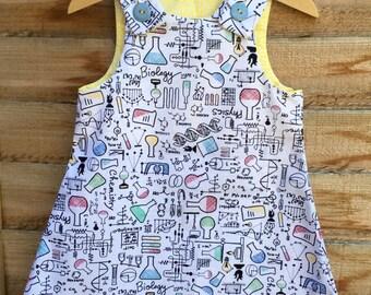 Science pinafore dress