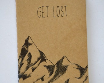 Get Lost Mountain Small Cahier Moleskine Journal Lined Pages
