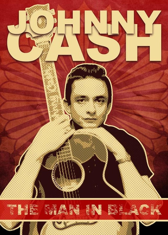 johnny cash man in black 1971 album art poster by hkarttrading. Black Bedroom Furniture Sets. Home Design Ideas