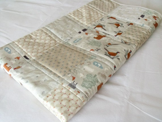 "cot duvet, quilted throw, patchwork quilt, sofa throw, quilted blanket, 48.5"" x 53.5"""
