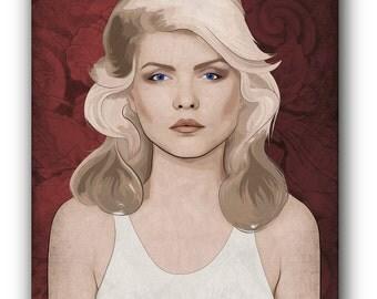 Debbie Harry Canvas Art Print A1 A2 A3 A4