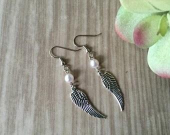 Angel wings earrings/ angel wings/