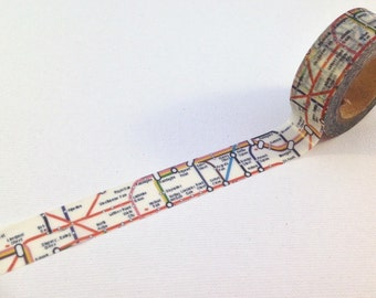 London underground map pattern washi tape 10m