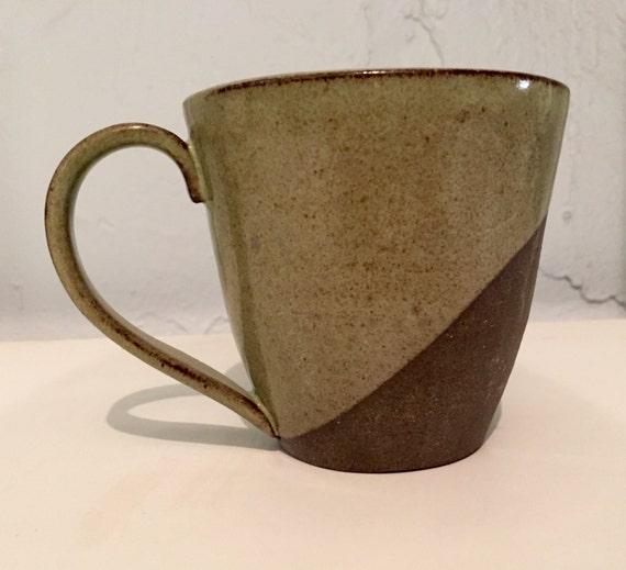 Green Ceramic modern black clay coffee mug