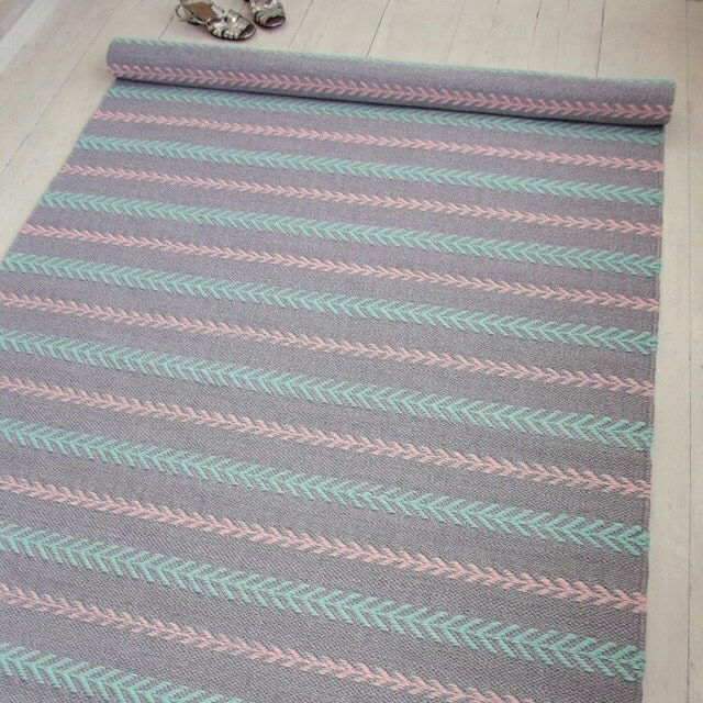 Blue And White Scandinavian Rug: Scandinavian Style Floor Rugs. By Leedas On Etsy