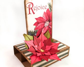 Rejoice pop-up Christmas card