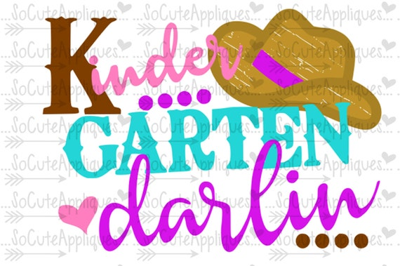 Cowgirl Darlin Svg 1st Day Of School Cowgirl Country Svg