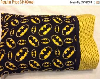 Travel Pillow, Batman Pillowcase, Toddler Pillow, Child Pillow, Batman Fan, Boy Gift, Batman Gift, Bedding, Batman Bedding