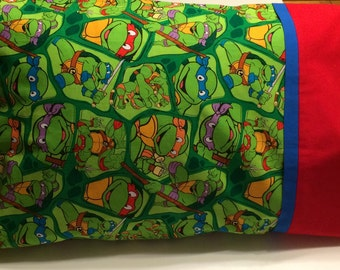 Travel Pillow, Ninja Turtle Pillowcase, Toddler Pillow, Child Pillow,  Boy Bedding, Ninja Turtle Bedding