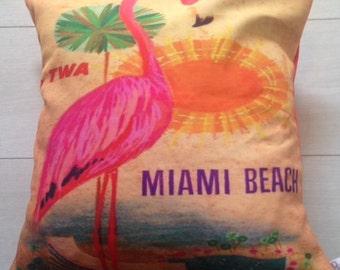 Beautiful Miami Beach Cushion Cover