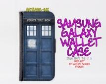 Samsung Galaxy S6 case - Samsung Galaxy S6 wallet case - Galaxy S6 case - Galaxy S6 wallet case - Tardis Samsung Galaxy S6 case