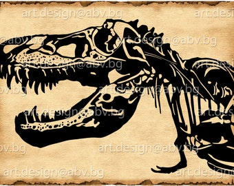 Vector T-REX, SVG, DXF, ai, eps, pdf, png, jpg Image Graphic Digital Download Artwork, graphical, discount coupons