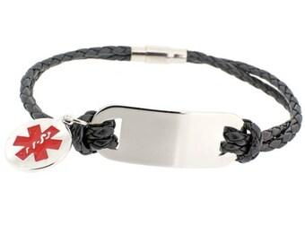 Men's Medical ID Bracelet - Personalized Medical Alert Bracelet
