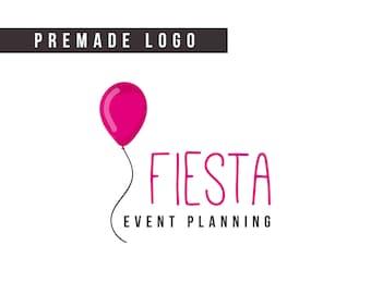Premade Logo | event planner logo, logo design, balloon logo, party logo, small business logo, brand logo, event logo, custom logo design