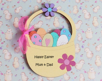 Easter Egg basket,hand-painted,personalised gift