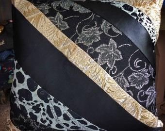 Gaudy Designer Scraps pillow