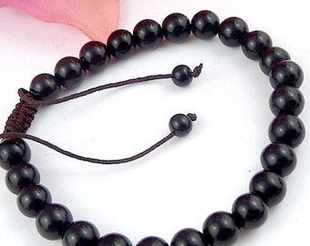 Tibetan jewelry ONYX bracelet mala Buddhist prayer meditation bm9