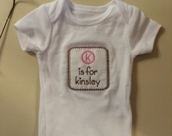 Name and Initial Onesie