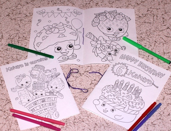 Shopkins Birthday Party coloring
