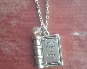 Once Upon a Time book pendant necklace