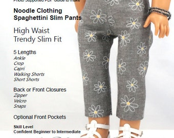 18 inch Doll Clothes PDF Pattern - Spaghettini Slim Pant for 18 inch dolls such as American Girl®