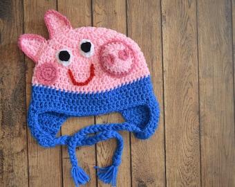 George Pig Crochet Hat