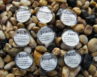 Affirmation Inspiration Glass Magnets