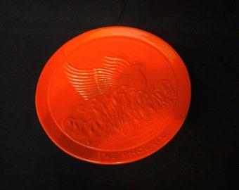 Frankoma Flame Red Phoenix Plate/ Frankoma PH/ Frankoma Phoenix Plate/ Frankoma Decorative Plate The Phoenix First Edition Joniece Frank 85'