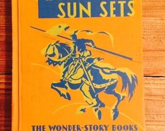 Vintage Children's Reader, After the Sun Sets
