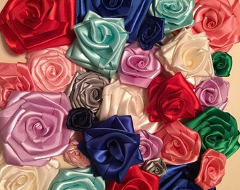 Satin rolled roses Grab bag!