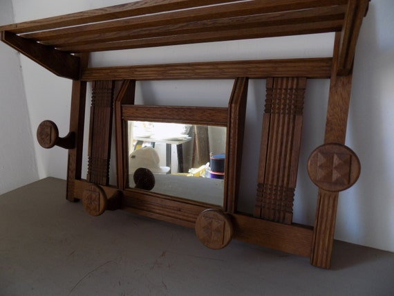 french art deco wall mounted porte manteau entrance hall coat. Black Bedroom Furniture Sets. Home Design Ideas
