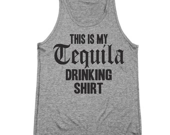 My Tequila Drinking Shirt Funny Humor Mexico Set Tri-Blend Tank Top DT1060