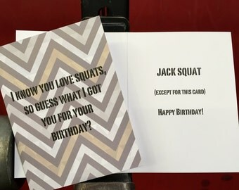 Crossfit Inspired Greeting Card - Birthday