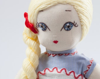 Clara - Handmade Cloth Doll