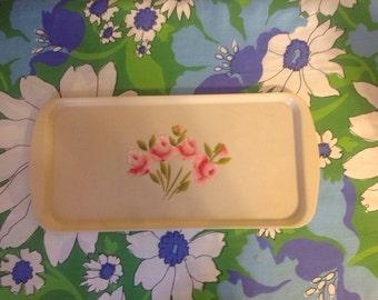 Vintage Flowered Tray
