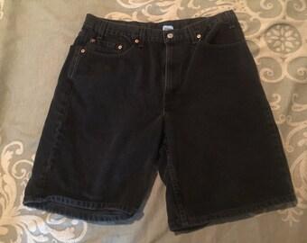 Black denim Levi shorts