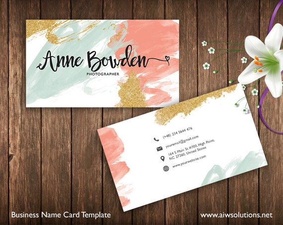 business cards printable name card template photography name