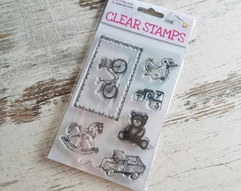 """Clear stamps """"toys"""""""