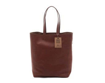 Shopping bag cowhide leather made in Italy